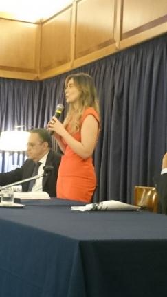 Maria Elena Boschi al circolo Canottieri Aniene